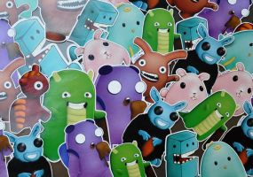 Illustrated kriture stickers by Darkween