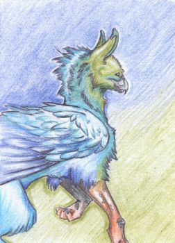 ACEO: Gryphon by BlaineMono