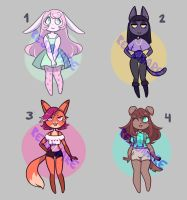 [CLOSED] Furry Adoptables Batch 1 by Res0nare
