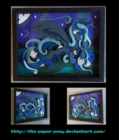 11x14 Princess Luna Shadowbox by The-Paper-Pony