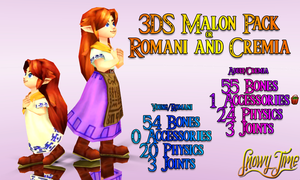 [MMD] 3DS Malon Pack Romani Cremia : DOWNLOAD by SnowyTime