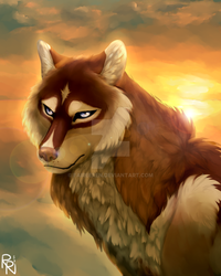 Wolf Painting by esperay