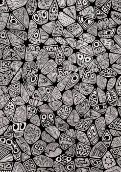 Neural Network (Black and White) by Loggaa