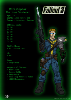 Christopher - The Lone Wanderer by Sheason