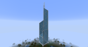 Minecraft - Bank of China Tower by MinecraftArchitect90