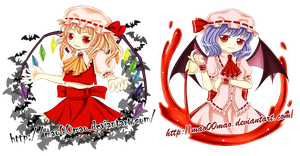 touhou_scarlet sisters by mao00mao
