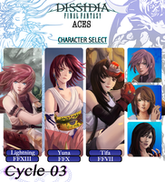 Dissidia Aces Cycle 03  Application by deeyosa