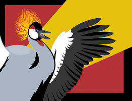Grey Crowned Crane by Icearstorm