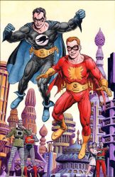 Flamebird and Nightwing by westonfront