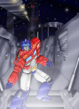 Optimus Prime reaches out by buuteheweun