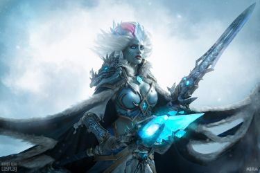 Frost Lich Jaina - Knights of the Frozen Throne by Narga-Lifestream