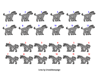 spotted hyena / striped hyena bases by unstablestopsign