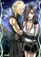 Cloud and Tifa version 2 by teef