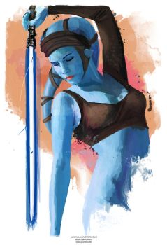 Aayla Secura JEDI COLLECTION by j2Artist