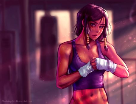 Morning Workout (Overwatch) by Blueberry-Cat