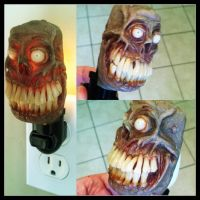 The new zombie night light is done! by MorgansMutations