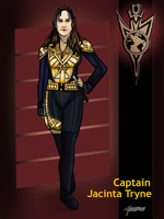 Discovery Mirrorverse Captain Tryne by stourangeau