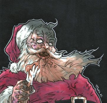 HAPPY ZOMBIE CHRISTMAS by leagueof1