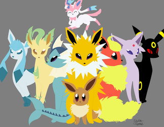 Eeveelutions by PinkandCuteness