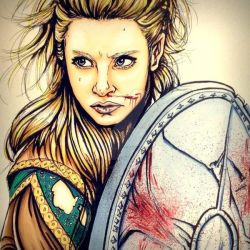 Lagertha the mother of the blood by LuisIzquierdo