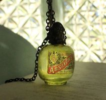 Absinthe Bottle Necklace by asunder
