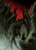 Ungoliant and Morgoth by Skinny22
