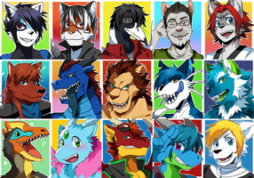 Twitter Portrait commission compilation 1 by seiryuuden