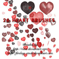 Heart Brushes by firebug-stock