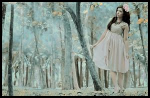 A Lady In A Blue Forest by andreaxe