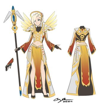 2016-09-19: Holy Priest Mercy by hikari-chan