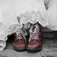 The Girl With The Red Shoes by H-Schults