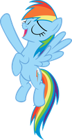 Rainbow Dash Singing Pose Vector by TheFrostSpark