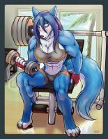 Hopey Building Muscle by HopeyWolf