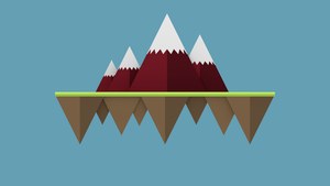 Flat Graphics: Floating Island by Gindew