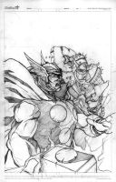 Thor and Kurse by victoroil