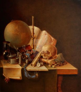 Still life in XVII style by AdharaMona