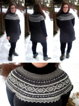 Grey Marius tunic for my mom by KnitLizzy