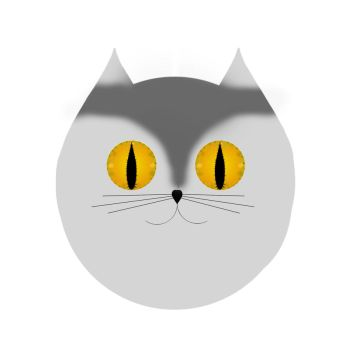 Cat face Clipart by CinnamonCoffeeStudio