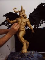 Illidan Stormrage of Warcraft sculpt WIP by ddgcom