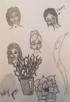 Plants and People Sketches by erbyderby24