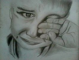 2013 drawing - Don't cry Little Soldier :) by nielopena