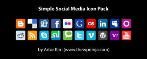 Simple Social Media Icon Pack by arturkim