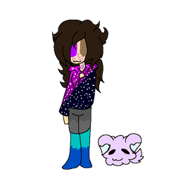 My persona and Cookie puppy :PAGE DOLL: by Bonnieart04