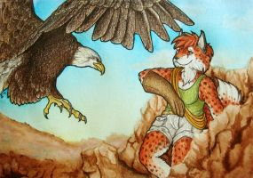 ACEO/ATC: Kirsch with Eagle by Samantha-dragon