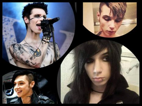 Andy Biersack's different hair styles:) by Black-Jack-Attack