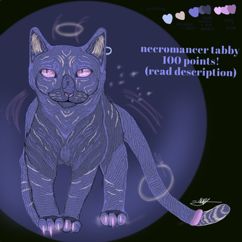 Necromancer tabby adoptable~read desc~ OPEN by fluffygaykitties