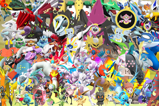 ClayPita 141 34 All Legendary Pokemons In 3D Wallpaper By GenoForSmash