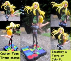 Terra and Beastboy maquette by TeenTitans4Evr