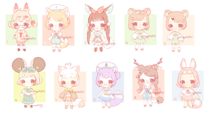 Adoptables - Seifuku (sold out) by luupon