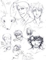 Hannibal Doodles by DerangedMonarch